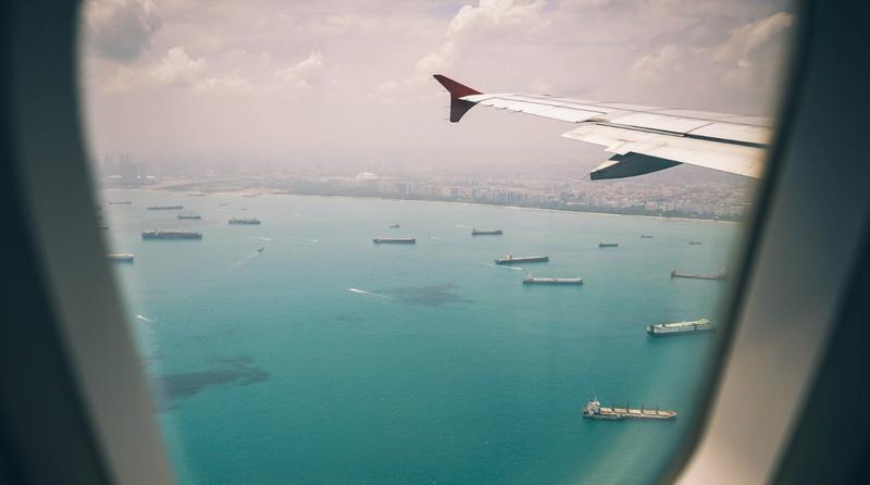 travelling plane window pexels