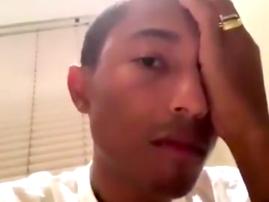 Pharrell Williams woken up by a Hadida