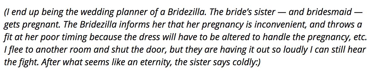Bridezilla story