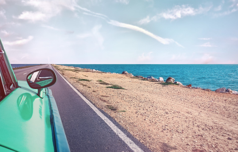 beach drive pexels