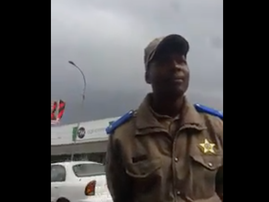 Officer stays cool during confrontation