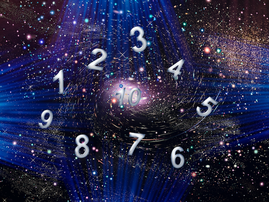 Space life of figures, numerology istock
