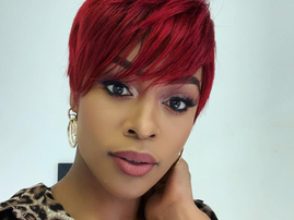 Nomzamo Mbatha with her new hair / Instagram