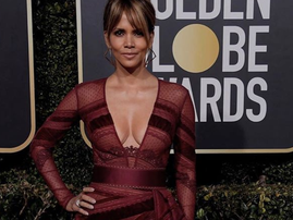 Halle Berry at the Golden Globes / Instagram