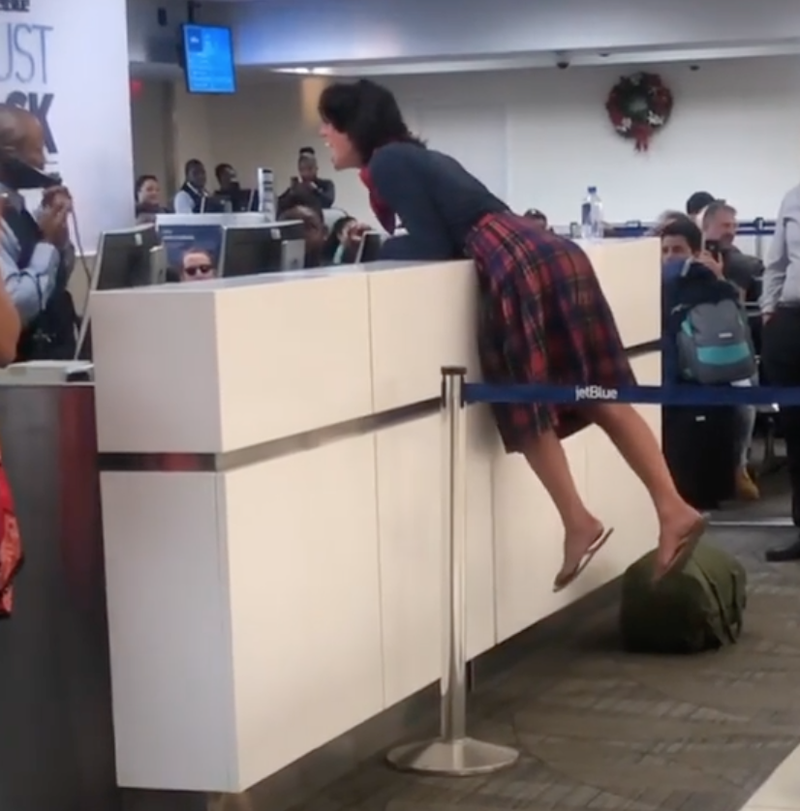 Woman has meltdown at airport