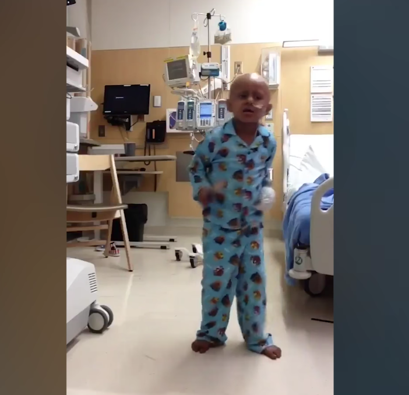 5 year old cancer patient