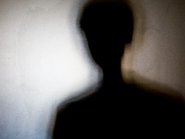 Person shadows with Frosted glass / iStock