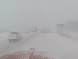 Driving through the polar vortex