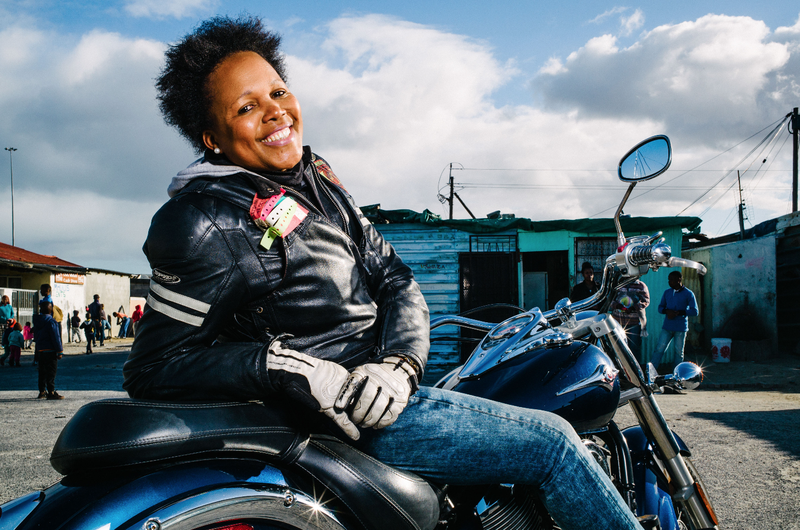 Black woman on a bike beautiful news