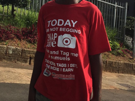 Durban man wears Samuels T-shirt / Instagram