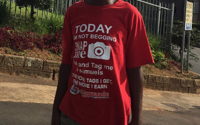 Durban man wears Samuels T-shirt / Instagram