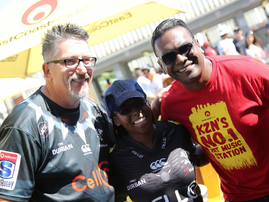 Darren Maule with Deon Govender