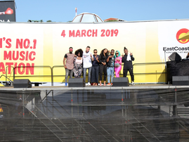 Artists perform at ECR billboard in Umlazi / ECR
