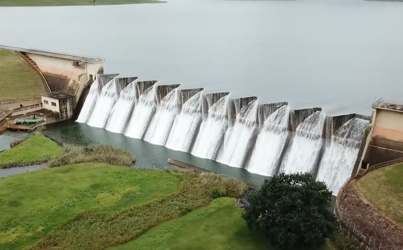 Midmar dam overflowing / Facebook - @therakeshshow