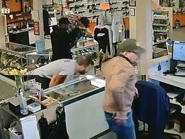 Thugs rob gun store