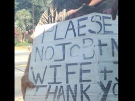 Homeless Man in JHB