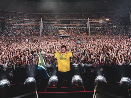Ed Sheeran at FNB Stadium / Instagram