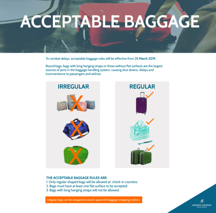New baggage rules presented by OR Tambo International