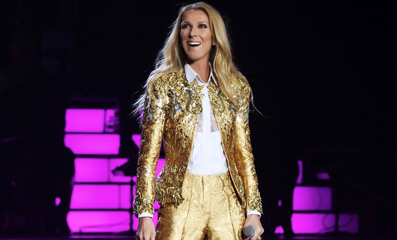 Celine Dion shines in a gold suit / Instagram