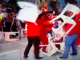 WATCH: EFF supporters throwing chairs at election debate