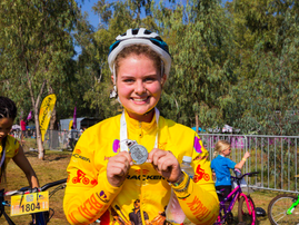 It's safe to say, she's a pro-cyclist after taking the #OffTheBeatnTrack 5km trail.