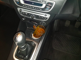 Drunk driver caught with alcohol in car