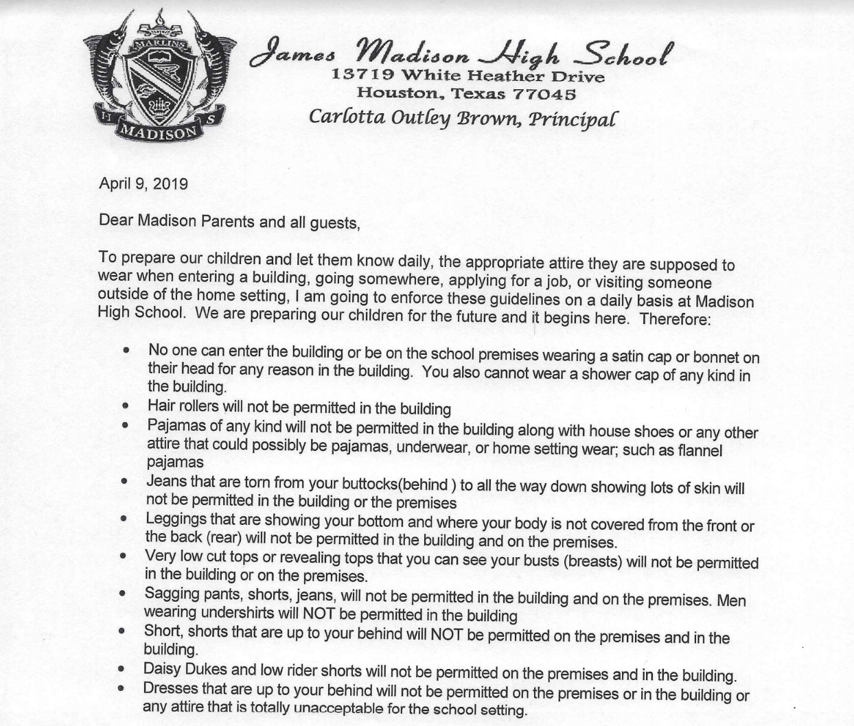 how to write a letter to a judge high school principal enforces dress code for parents 22431 | Screen Shot 2019 04 29 at 7.36.32 AM.original
