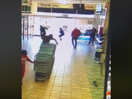 Guard sends robbers running