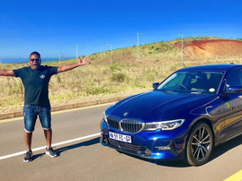 Deon Govender and the 3 Series BMW / Instagram