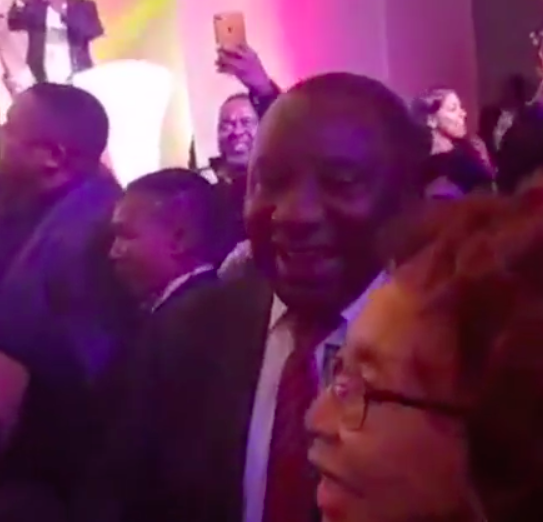 President Cyril Ramaphosa and his wife dances along to Mafikizolo at live performance
