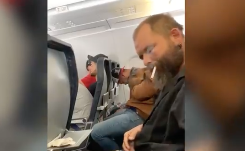 Man lights up on plane / New York Post