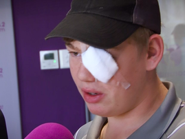 Good Morning Angels: A mom's leap of faith to save her bullied son's eye pays off