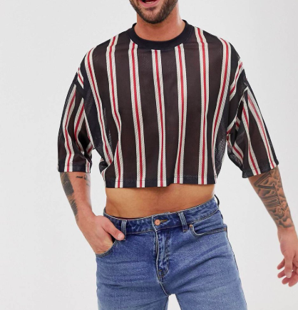 Crop tops for men are here for the summer