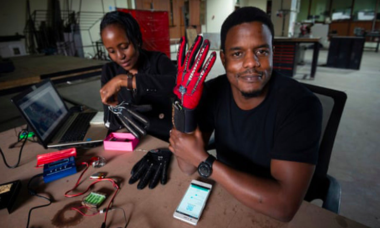 Kenyan man earns global recognition after smart glove innovation