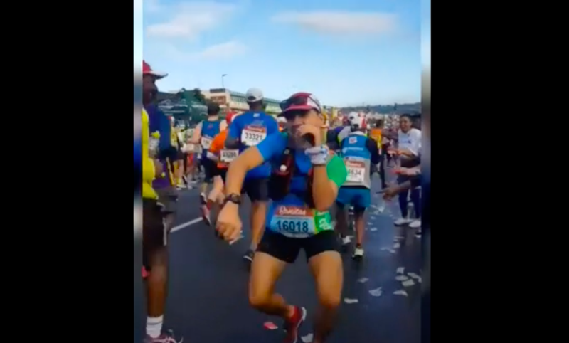 Brazilian runner goes viral after dancing at the Comrades marathon