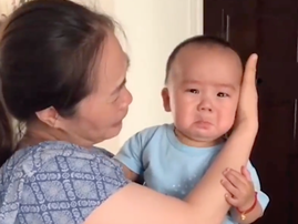 Prank makes baby cry