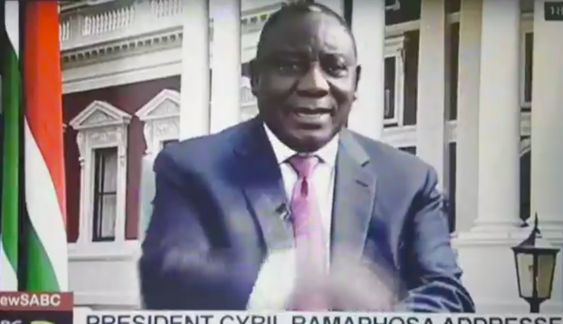 Cyril Ramaphosa Makes Mistake