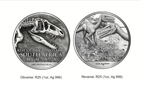 New R25 dinosaur coin