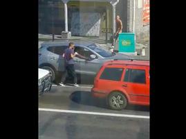 Criminal stealing phone