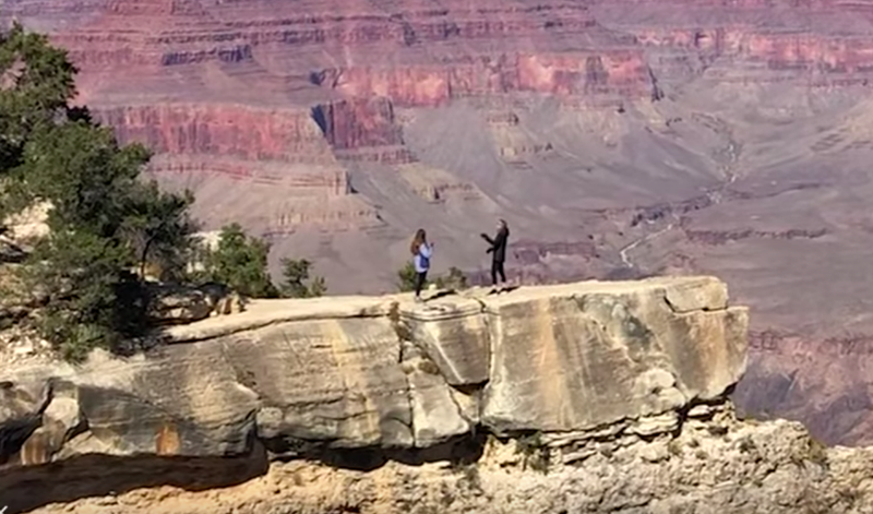 Woman Nearly Falls Off Grand Canyon