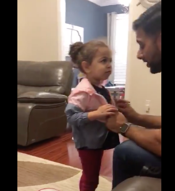 Two-year-old brings wrong jacket home and handles interrogation like a pro