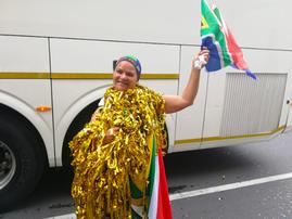Creché teacher quits her job to cheer on Springboks