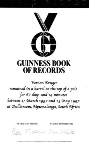 Vernon Kruger 1997