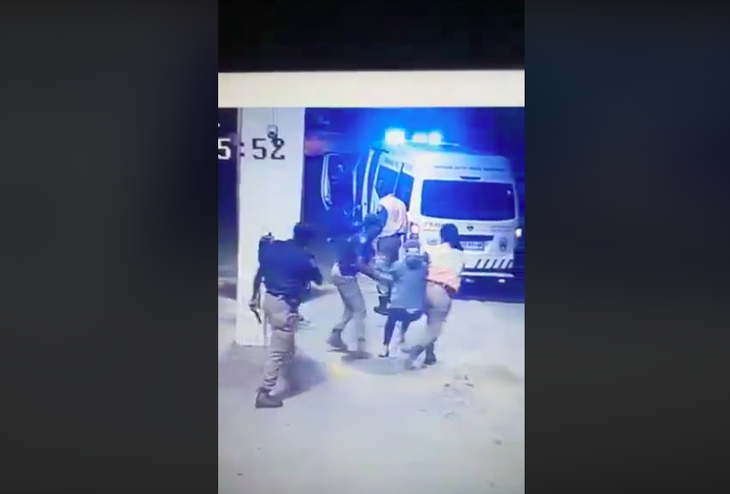 Woman dragged by police