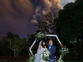 Volcano erupted