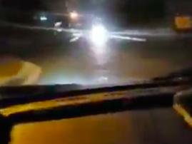 Speedster flips car