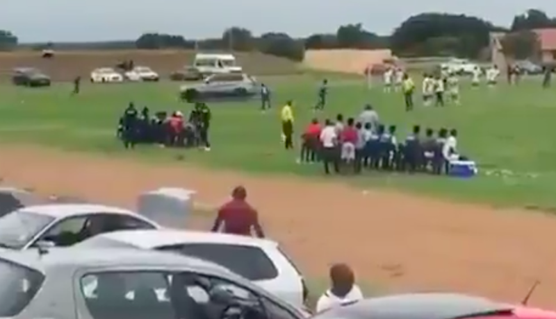 Man Drove Onto Soccer Pitch