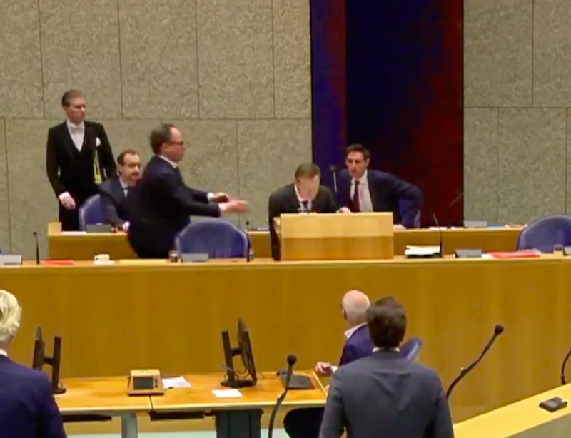 Coronavirus: Netherlands' Health Minister collapses during parliament