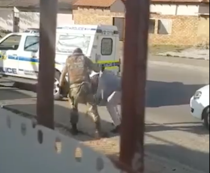 SANDF handling civilian