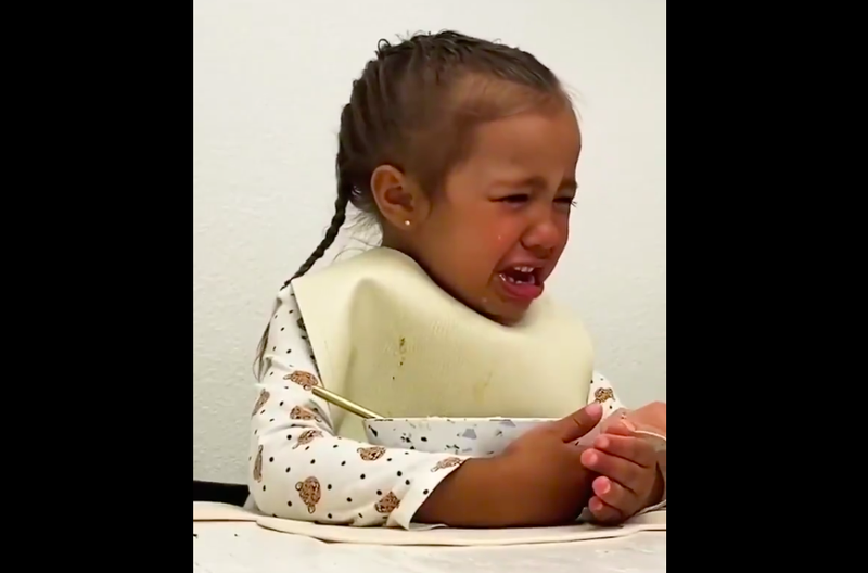 Little girl frustrated with lockdown